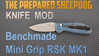 Benchmade Mini Griptilian RSK MK1 - G10 Scale Upgrade