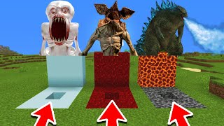 Download Song Minecraft PE : DO NOT CHOOSE THE WRONG HOLE! (Demogorgon, SCP-096 & Godzilla) Free StafaMp3