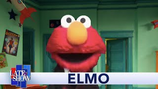 Elmo Promises He's Not Copying Stephen Colbert With His New Late Night Talk Show