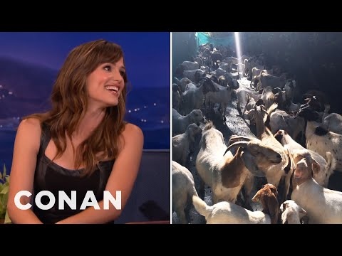 Jennifer Garner Hired A Herd Of Goats For Ben Affleck  - CONAN on TBS