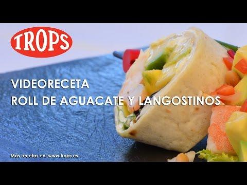 Videoreceta Roll de Aguacate TROPS con Langostinos