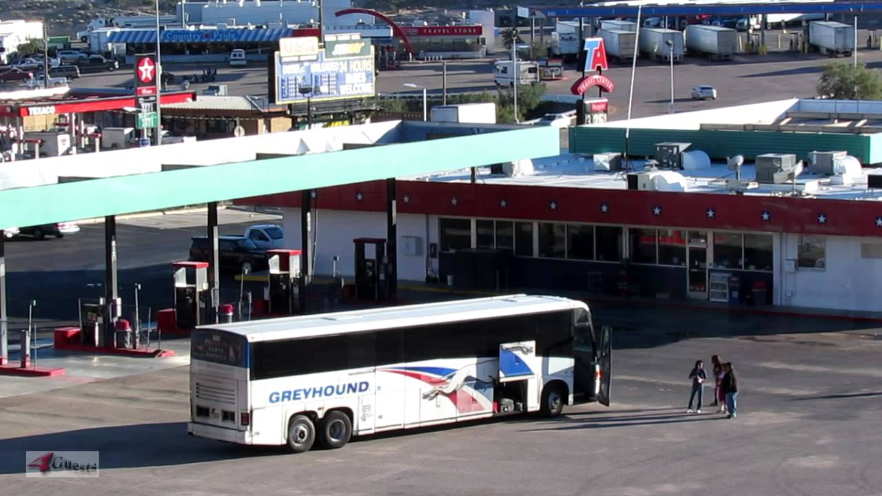 Greyhound Bus Station, USA Travel Center, NEW - YouTube