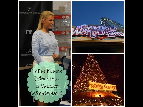 Meeting Billie Faiers & Winter Wonderland