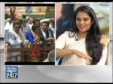Divya Spandana   Ramya - Election 2014 (ಎಲೆಕ್ಷನ್ 2014) Seg   1 - Suvarna News video