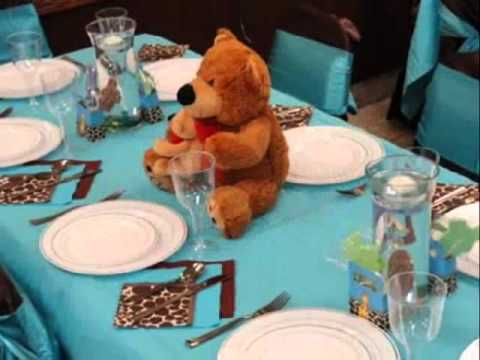carribbean blue and brown baby shower youtube