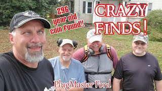 CRAZY Finds Metal Detecting | Colonial OLD COINS & MORE | PlugMaster Ford