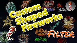 Custom Shaped Minecraft Fireworks (PixelFireworks MCEdit Filter)