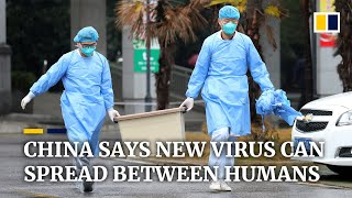 China confirms new coronavirus can be transmitted between humans
