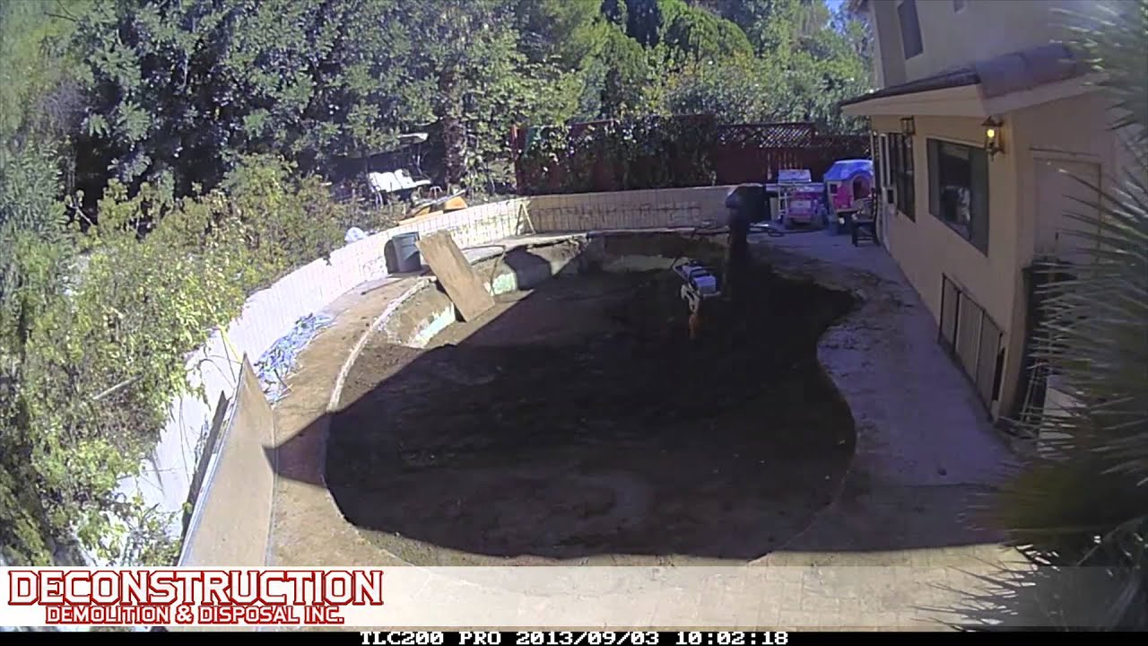 Deconstruction Pro Pool Demolition Woodland Hills Pool Removal Services 888 666 8808 Youtube