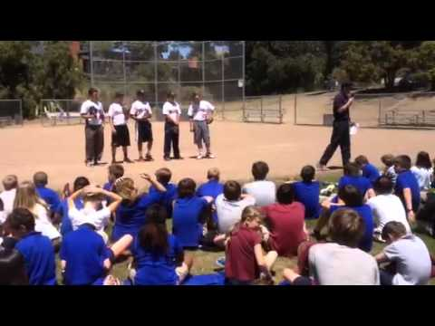 Harper for Kids and Coach Doug Williams, CSM Baseball Coach - Assembly at Charles Armstrong School - 05/24/2014
