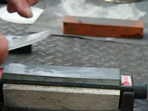 Mora knife sharpening