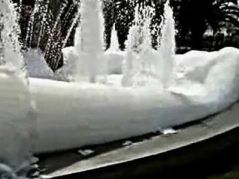 Foam fountain - Thessaloniki Greece