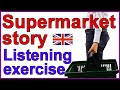 Frame from English listening and vocabulary lesson - Supermarket story