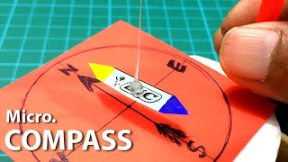 Create an Amazing Compass from your homemade materials (Micro Version)   Creative Channel