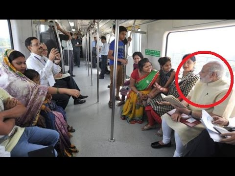 LIVE: Narendra Modi travels by Delhi METRO with co-passenger