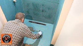 Build Curbless Walk In Shower on Concrete Floor (Part 4: Waterproofing)