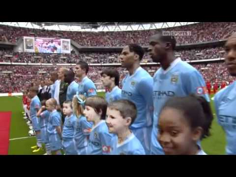 Kerry Ellis singing the National Anthem - FA Community Shield 7th Aug 2011