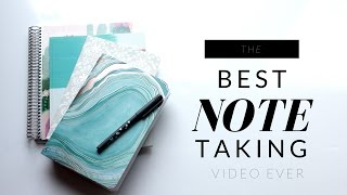 The BEST NOTE TAKING Method! Make STUDYING EASY!