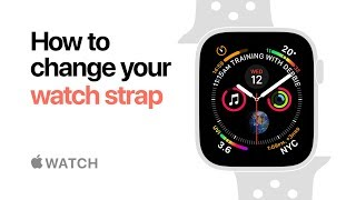 Apple Watch Series 4 — How to change your watch strap — Apple