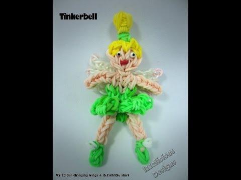 Rainbow Loom Tinkerbell Fairy Action Figure charm Tutorial video