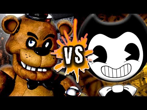 FREDDY VS BENDY RAP BATTLE by TryHardNinja and Fabvl [RAPWAR]