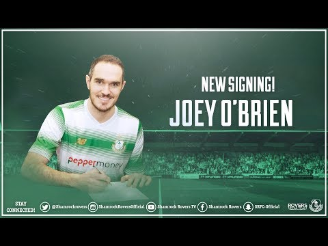 Joey O'Brien is a Hoop!  Joey signs for Shamrock Rovers 27-01-2018