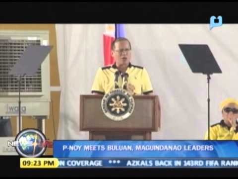 President Aquino meets Buluan, Maguindanao leaders