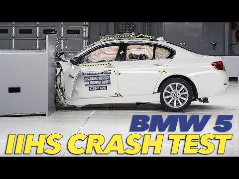 2014 BMW 5 Series CRASH TEST IIHS Small Overlap [Marginal]
