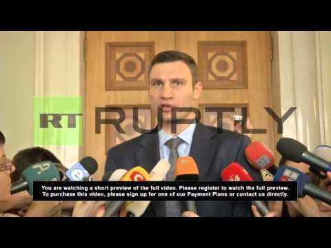 Ukraine: Klitschko and Tymoshenko will run for presidency