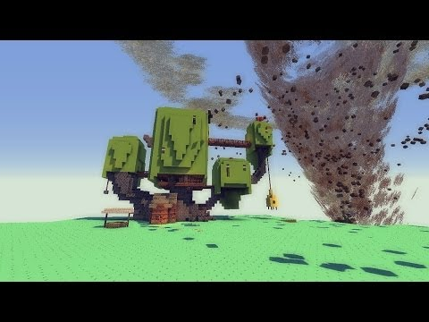 Minecraft: TORNADO MOD VS. ADVENTURE TIME MAP Tornado Mod