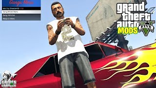 GANGS MOD MENU!!! (SHOWCASE) GTA 5 MODS