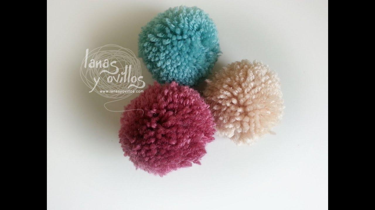 Tutorial c mo hacer un pom pom de lana paso a paso youtube - Como hacer pompones de lana rapido ...