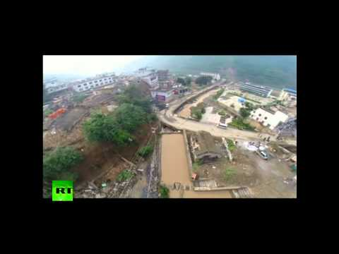Drone video: Devastating aftermath of China 6.5 earthquake