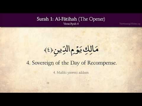 Quran: 1. Surah Al-fatihah (the Opener): Arabic And English Translation Hd video