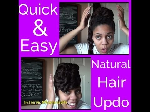 Tutorial: Quick & Easy Natural Hair Updo (Protective style)