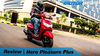 Hero Pleasure Plus Review - The Best Scooter For Females? | MotorBeam