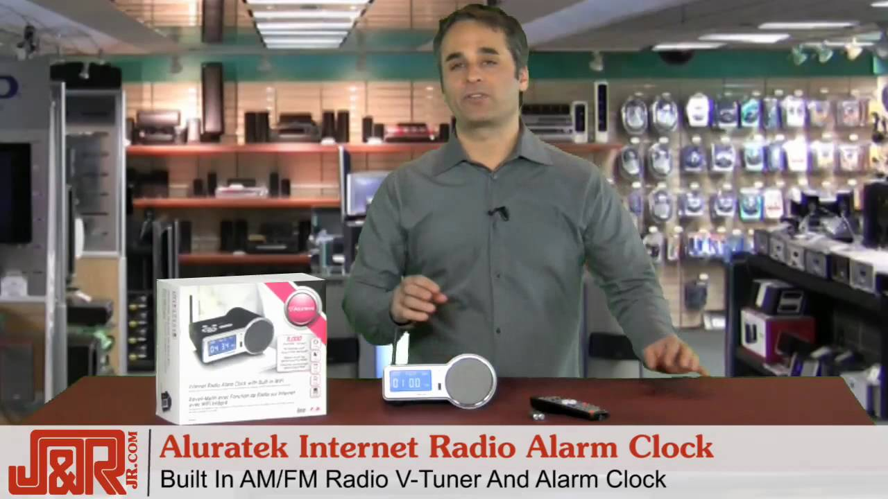 aluratek airmm01f internet radio alarm clock with built in wifi youtube. Black Bedroom Furniture Sets. Home Design Ideas