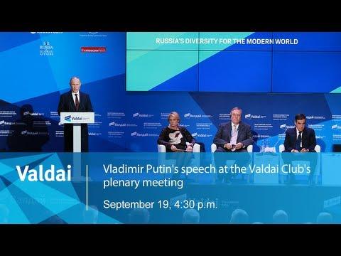 Broadcast: Vladimir Putin& 39;s Speech At The Valdai Club& 39;s Plenary Meeting
