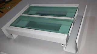 Perfil Estrutural PC 5512 e Viga Calha PC 4412 com Vidro Polysolution