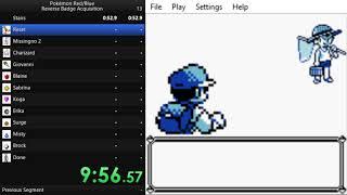 Pokémon Red/Blue Reverse Badge Acquisition 32:36.85