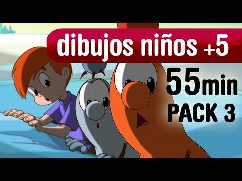 1 hora de dibujos animados, series animadas niños +5 años - Pack3