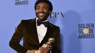 Donald Glover - Golden Globes 2017 - Full Backstage Speech