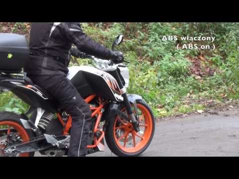 KTM Duke 390 - ABS test