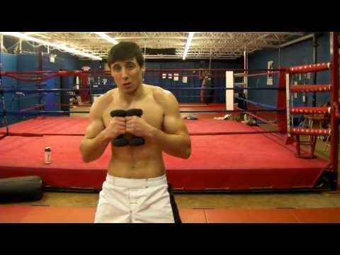 MMA striking workout w/ dumbbells for speed and power Image 1