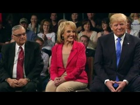 Sheriff Arpaio and Jan Brewer voice their support of Trump