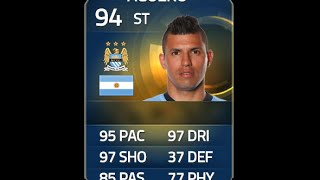 FIFA 15 TOTS AGUERO 94 Player Review & In Game Stats Ultimate Team