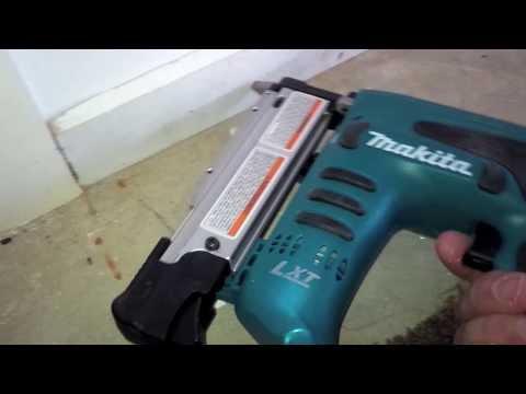 Makita Pin nailer demo 2