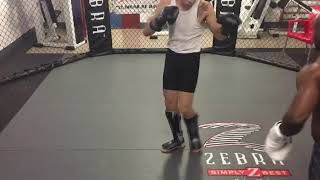 MMA Fighters doing Striking sparring