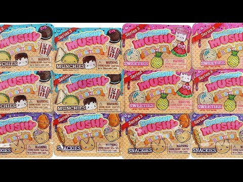 Smooshy Mushy Besties Series 3 Blind Boxes Unboxing Toy Review Snackies. Munchies and Sweeties