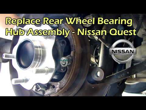 Rear Wheel Bearing Hub Assembly Replacement - Nissan Quest